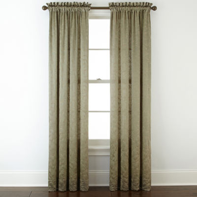 royal velvet hilton embroidery rodpocket curtain panel