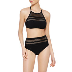 Xersion High Neck w/Mesh or High Waist Swimsuit Bottom