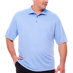 IZOD Short Sleeve Grid Knit Polo Shirt Big and Tall