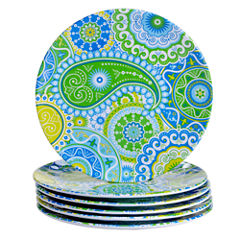 Certified International Boho 6-pc. Salad Plate