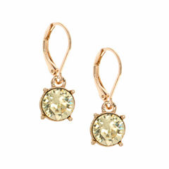 Gloria Vanderbilt Green Drop Earrings