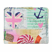 Mundi Mini Beach Print Bi-Fold Wallet