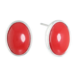 Liz Claiborne Red Stud Earrings