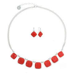 Liz Claiborne Womens 2-pc. Red Jewelry Set