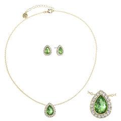 Monet Jewelry Womens 2-pc. Green Jewelry Set
