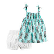 Carter's Girls 2-pc. Short Set-Baby
