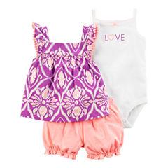 Carter's 3-pc. Short Set Baby Girls