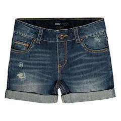 Levi's Denim At Waist Shortie Shorts - Big Kid Girls