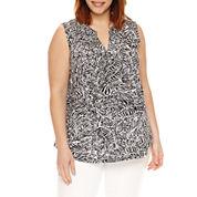 Liz Claiborne Knit Tank Top-Plus