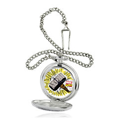 Marvel® Thor Hammer Mens Silver-Tone Pocket Watch