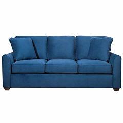 Possibilities Sharkfin Fabric Sharkfin-Arm Sofa