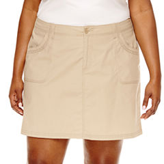 St. John's Bay® Twill Skort - Plus