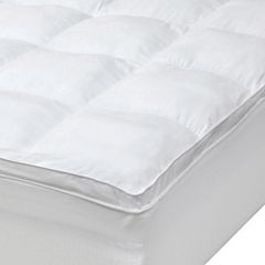 iDEAL Comfort™ Microfiber Baffle Box Fiberbed  Mattress Pad w/ Skirt