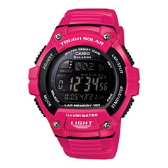 Casio® Solar Runner Womens Large Case Watch WS220C-4B