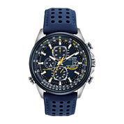 Citizen® Eco-Drive® Mens Blue Angels World Chronograph A-T Watch AT8020-03L