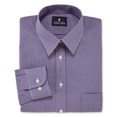 Stafford® Long-Sleeve Travel Performance Regular Fit Broadcloth Dress Shirt