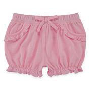 Okie Dokie® Solid Bubble Shorts - Baby Girls newborn-24m