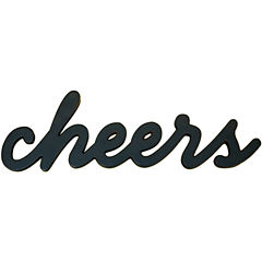 """Cheers"" Wood Sign Wall Decor"