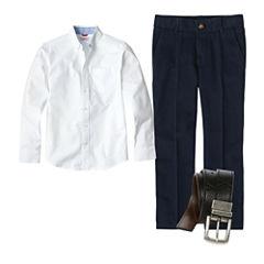 IZOD® Long-Sleeve Oxford, Flat-Front Pants or Reversible Belt - Boys 4-7