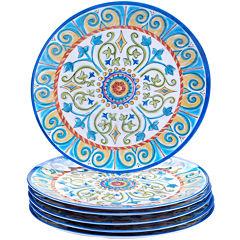 Certified International Tuscany Melamine Set of 6 Dinner Plates