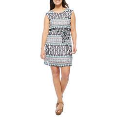 Robbie Bee Short Sleeve Blouson Dress