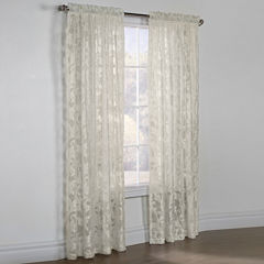 Jacqueline Boucle Sheer Rod-Pocket Curtain Panel