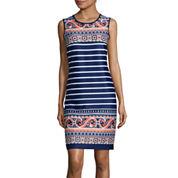 Tiana B. Sleeveless Shift Dress