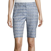 Liz Claiborne® Jacquard Walking Shorts - Tall