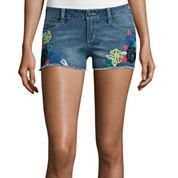 Arizona Multicolor Embroidery Floral Shorts