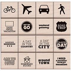 Travel Day 16-pc. Stamp Set