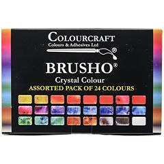 Colorfin Brusho Crystal Colors Set – 24 Pack