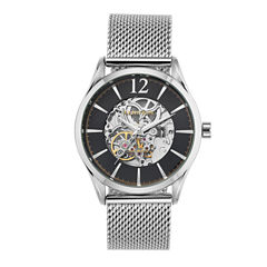 Armitron Mens Silver Tone Bracelet Watch-20/5237bksv