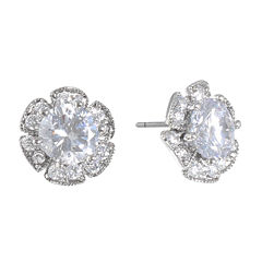 Monet Jewelry The Bridal Collection Clear Stud Earrings
