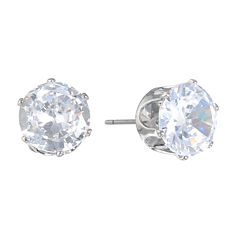 Monet Jewelry The Bridal Collection Clear Cubic Zirconia Stud Earrings