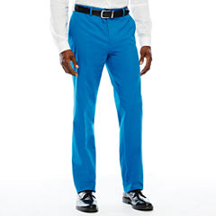 JF Stretch Cotton Bright Cobalt FF Pants-Slim