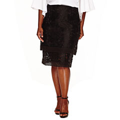 Worthington A-Line Skirt-Plus