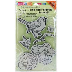 Bird Blossom Stamps & Stencils Set