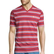 U.S. Polo Assn.® Short-Sleeve Reverse-Stripe V-Neck Tee