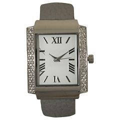 Olivia Pratt Womens Gray Bangle Watch-15773