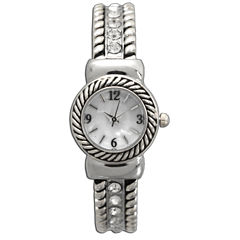 Olivia Pratt Womens Silver Tone Bangle Watch-10034