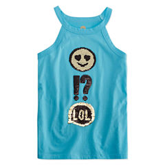 Total Girl Flip Sequin Halter Tank Top - Girls' 7-16 and Plus