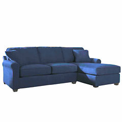 Fabric Possibilities Roll Arm 2-Pc Right Arm Chaise/Loveseat Sectional