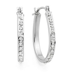Diamond Fascination™ 14K Gold Diamond Accent Hoop Earrings