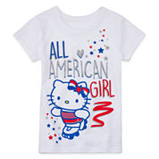 Hello Kitty® Americana Short-Sleeve Tee - Preschool Girls 4-6x