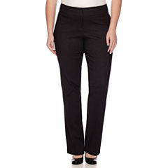 Heart & Soul® Double Waist Pinstripe Pants - Juniors Plus Long