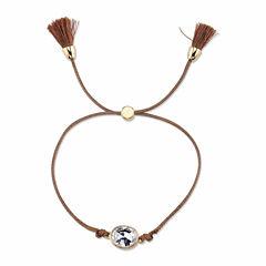 Bridge Jewelry Womens Clear Silver Over Brass Wrap Bracelet
