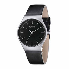 Fjord Mens Black Strap Watch-Fj-3026-01