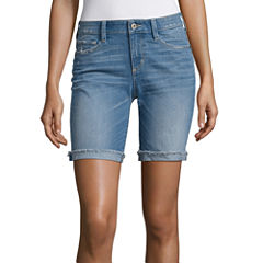 Arizona Denim Bermuda Shorts-Juniors