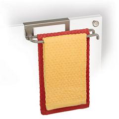 LYNK® Nickel Over-Cabinet-Door Pivoting Towel Bar