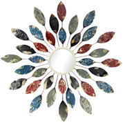 Colorful Leaves Wall Mirror